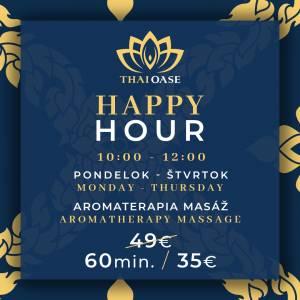 HAPPY HOUR – AKCIA (AROMATERAPIA) – ACTION (AROMATHERAPY) 60min.